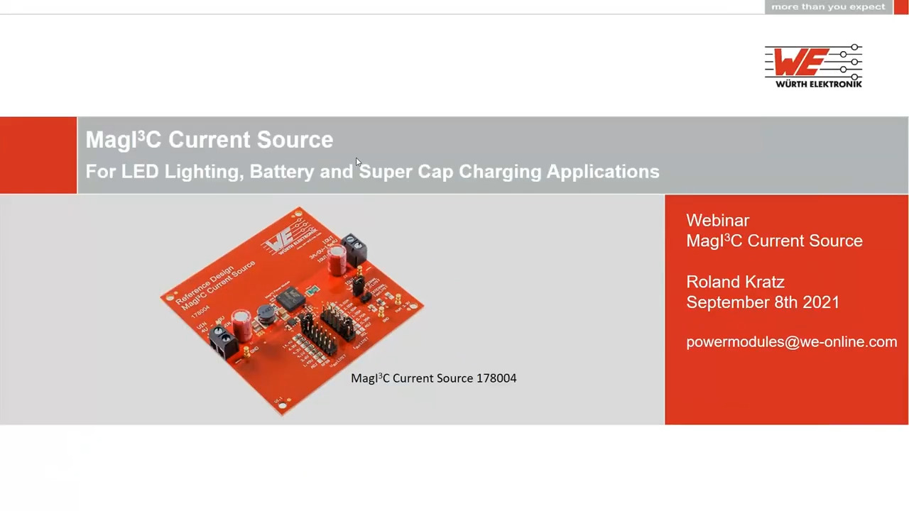 WEbinar Powered by Digi-Key: Use of MagI3C Power Modules as Adjustable Constant Current Sources
