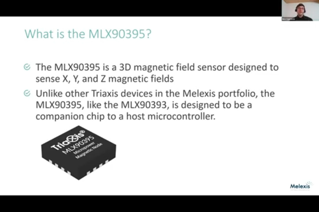 3D Magnetic Field Sensor IC (Magnetometer)
