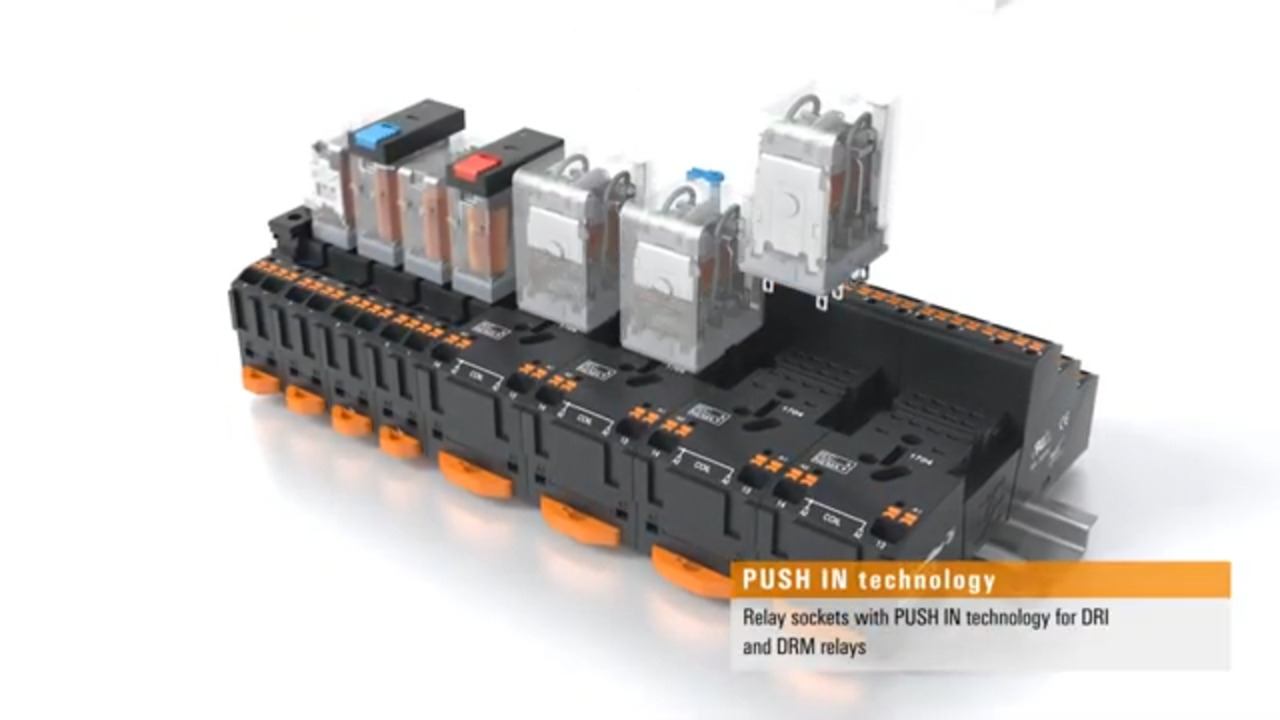 Weidmuller D-Series Push-In Relay and Base