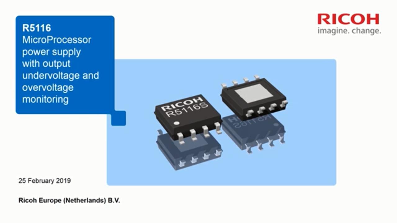 R5116 500mA Voltage Regulator with Over + Undervoltage Detector