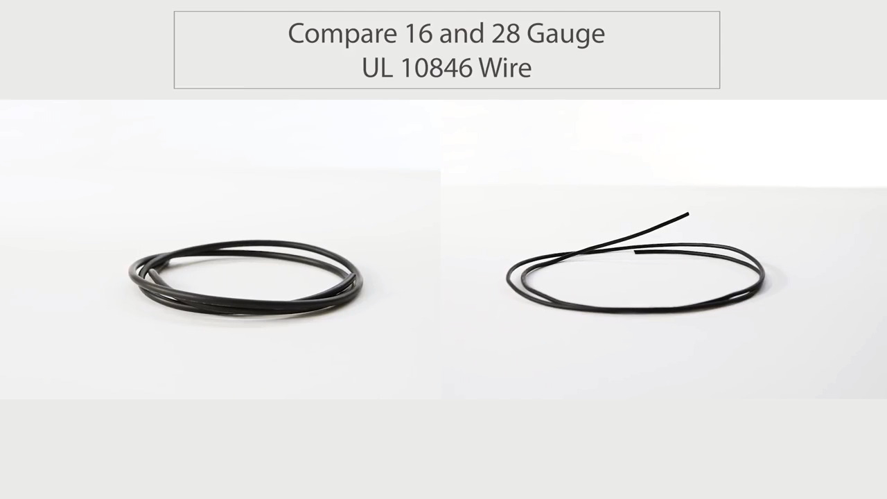 Compare Tensility 16 and 28 Gauge UL 10846 Wire
