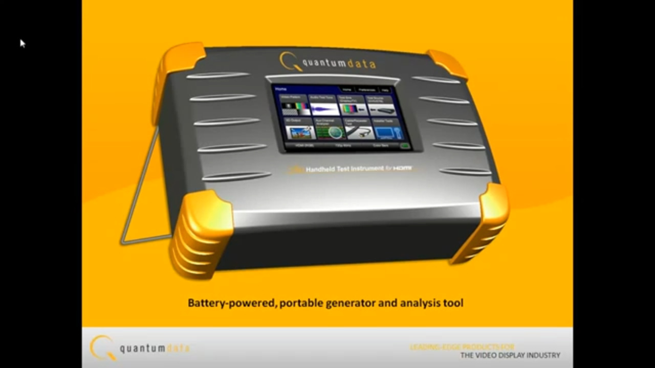 Testing HDMI Repeater Devices with Quantum Data 780 Handheld Test Instrument