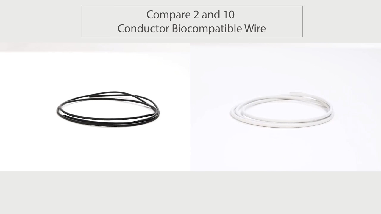 Compare 2 and 10 Conductor Biocompatible Wire