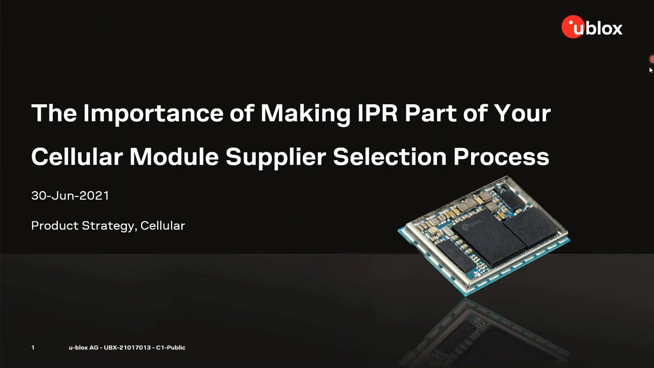 The Importance of Making IPR Part of Your Cellular Module Supplier Selection Process