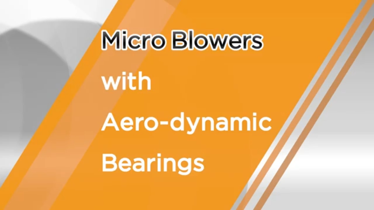 Micro Blowers with Aero-dynamic bearings from Nidec Copal Electronics