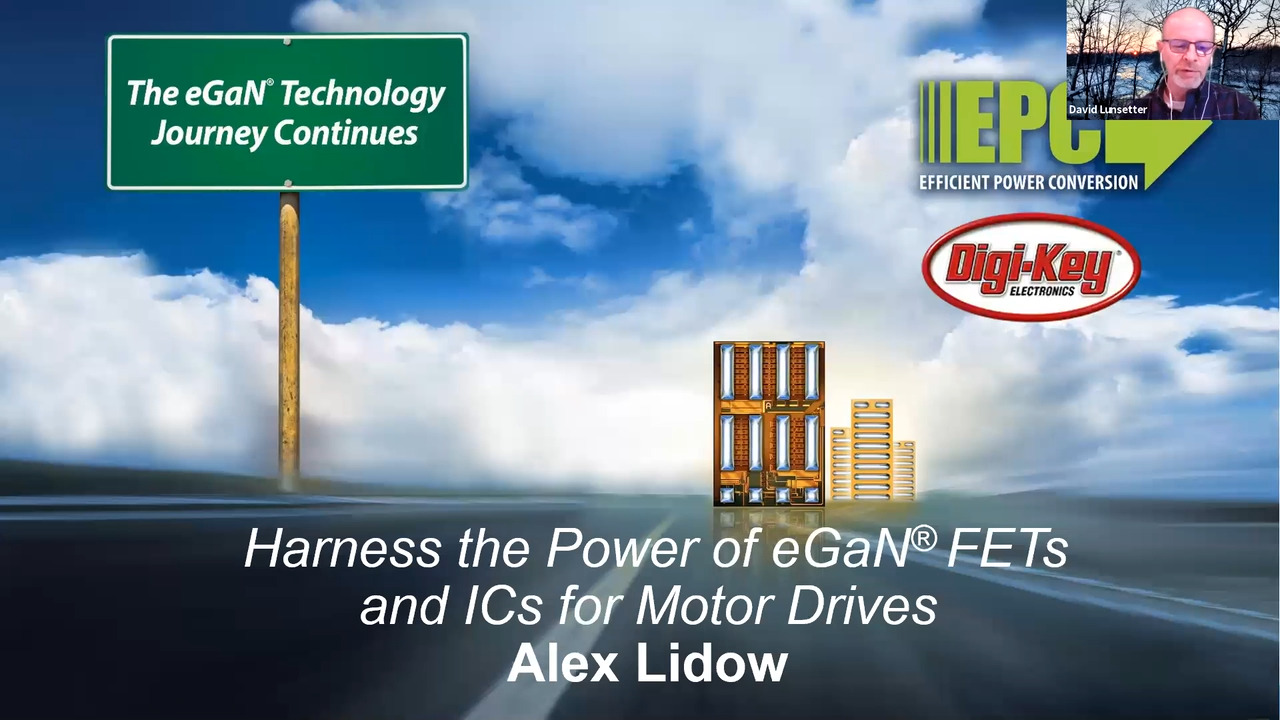 Harness the Power of eGaN® FETs and ICs for Motor Drives