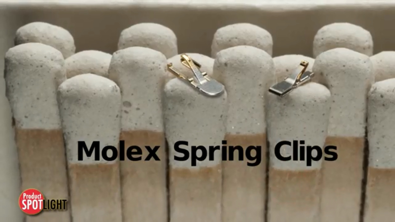 Molex - Product Spotlight - Spring Clips for Mobile Devices