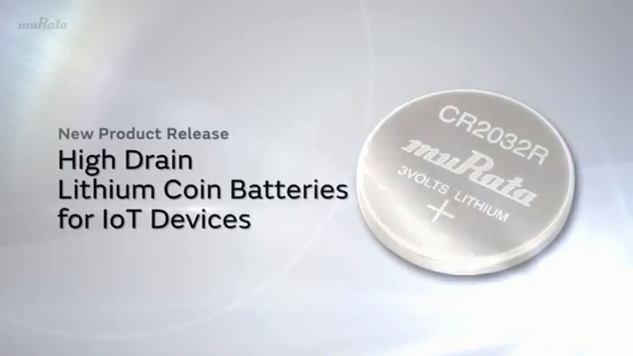 High Drain Lithium Coin Batteries for IoT Devices