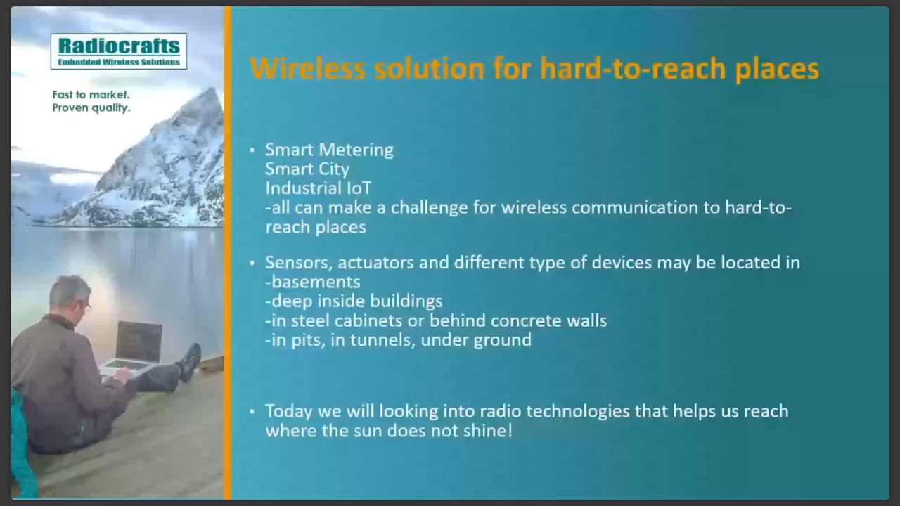 169 MHz Wireless Solutions for Hard-to-Reach Places