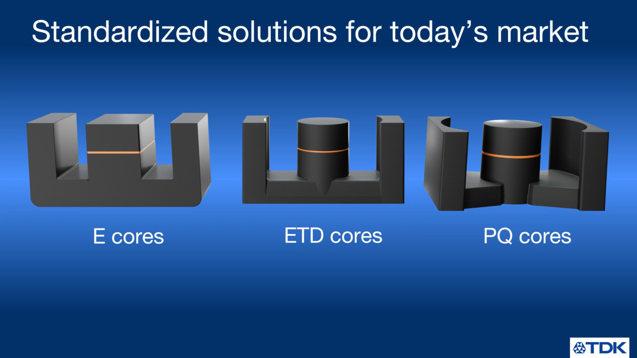 Ferrite Cores with Distributed Air Gaps Product