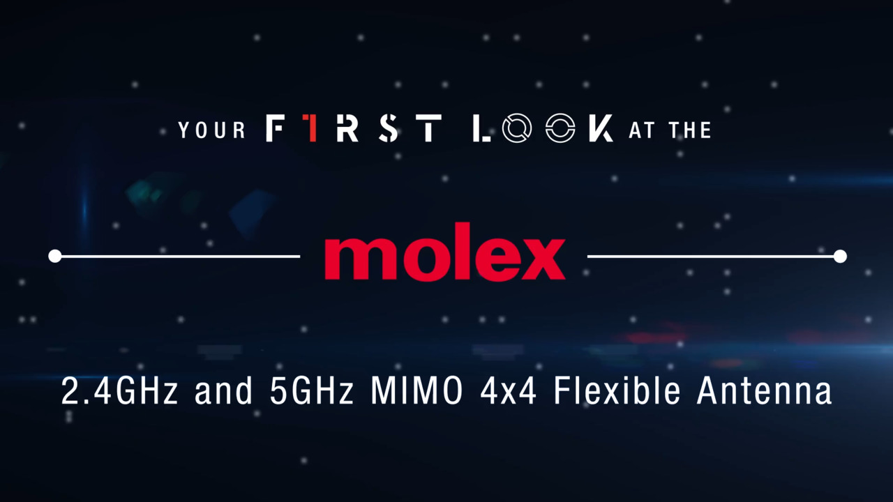 Molex 2.4GHz and 5GHz MIMO 4x4 Flexible Antenna First Look