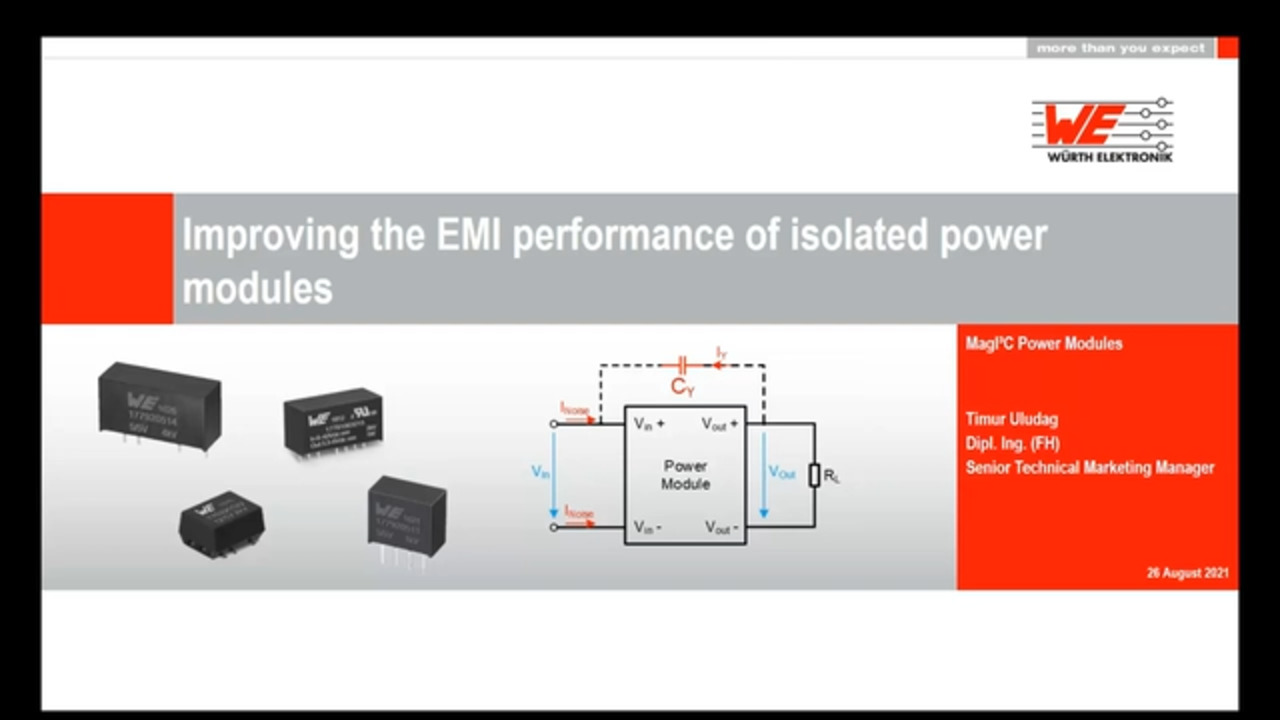 WEbinar Powered by Digi-Key: Improving the EMI Performance of Isolated Power Modules