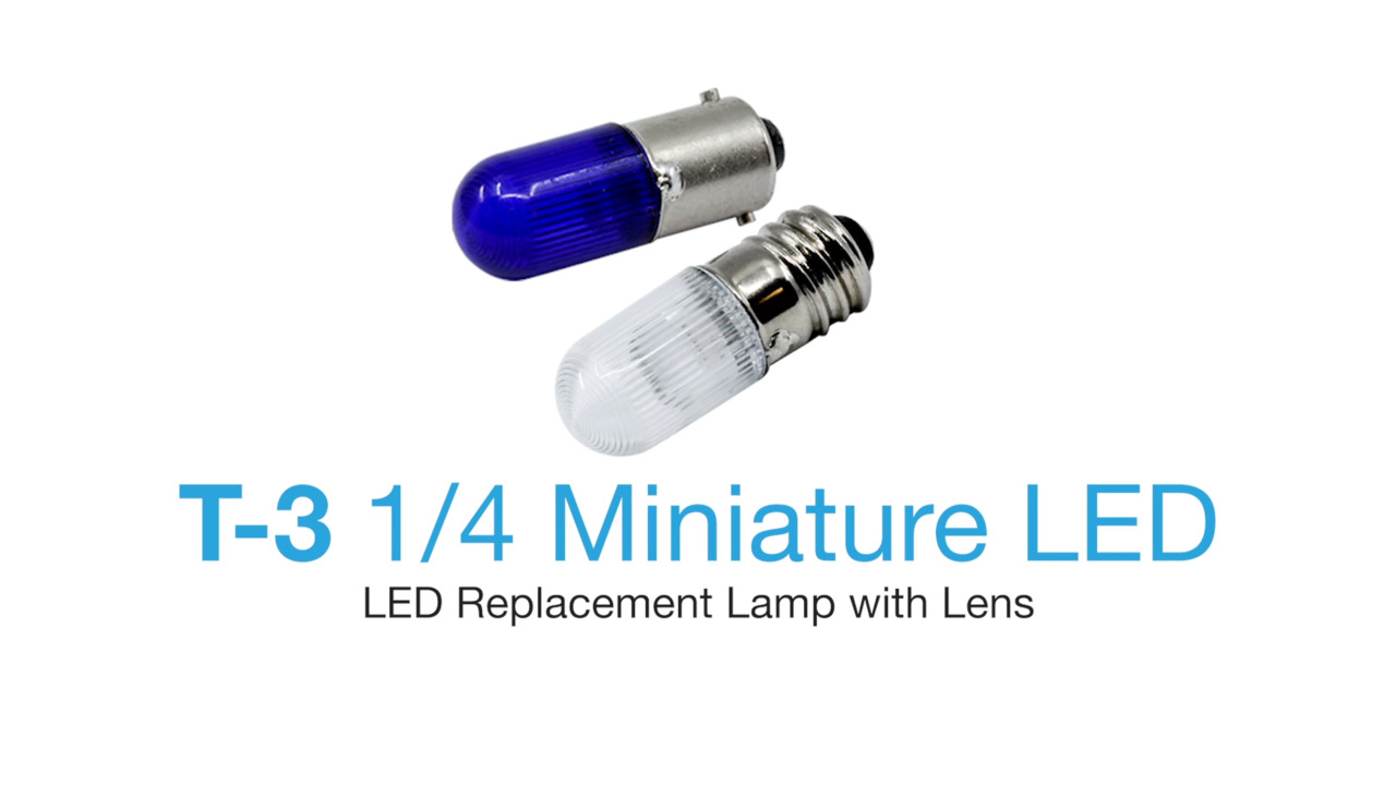 T-3 LED Lamps - ​LED Replacement Lamp With Lens