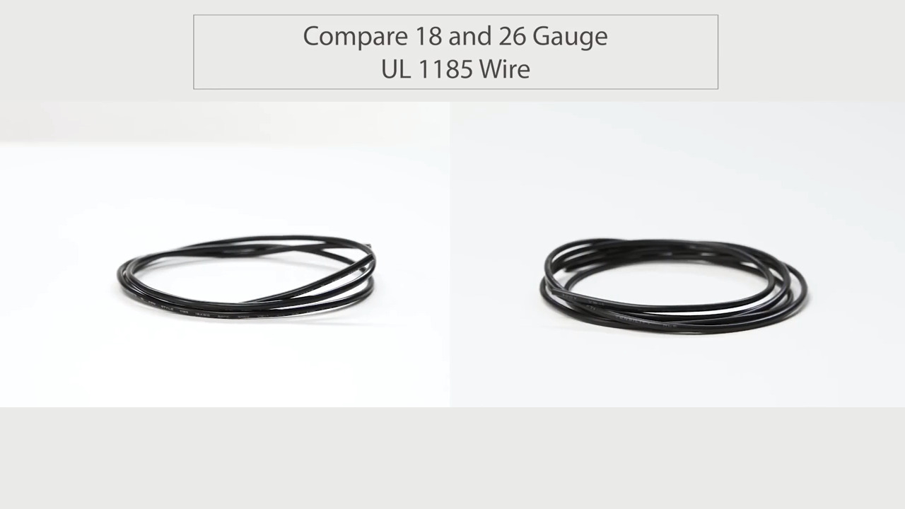 Compare Tensility 18 and 26 Gauge UL 1185 Wire