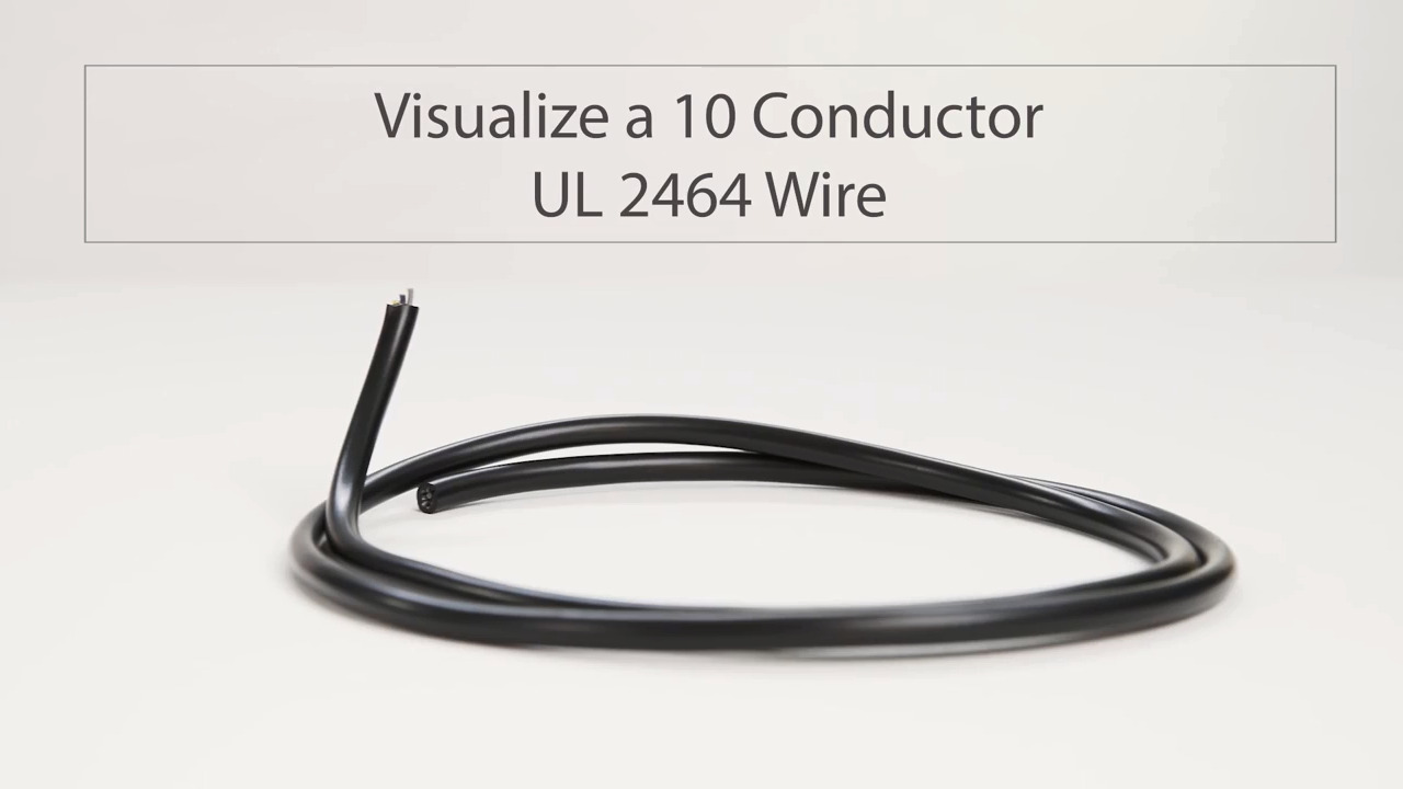 Visualize a 10 Conductor UL 2464 Wire