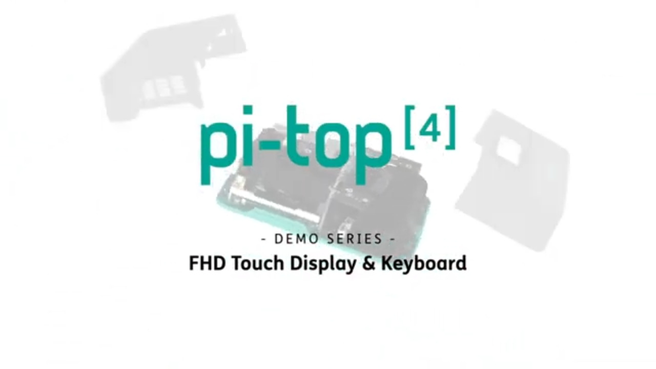 Pi-Top touch display and Bluetooth keyboard overview
