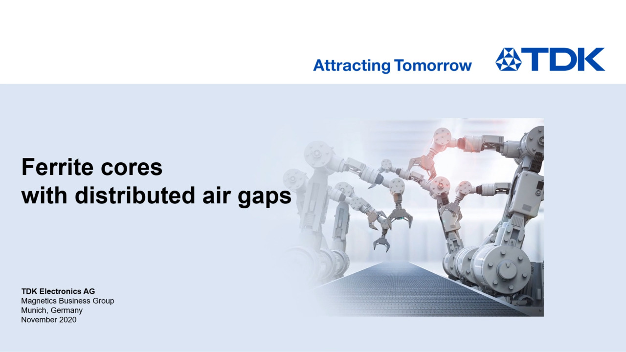 Distributed Air Gap Cores Product Presentation
