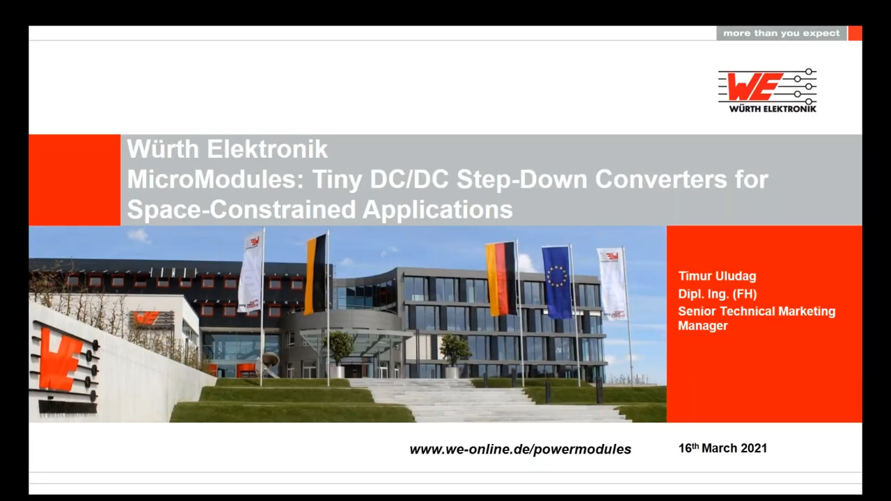 WEbinar Powered by Digi-Key:  Micromodules - DC/DC Step-Down Converters for Space-Constrained Applications