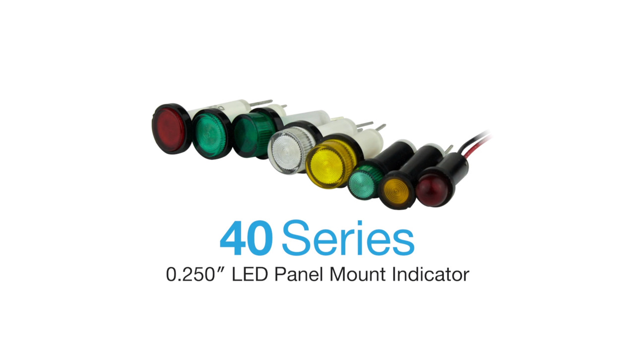 "40 Series - .250"" LED Panel Mount Indicator"