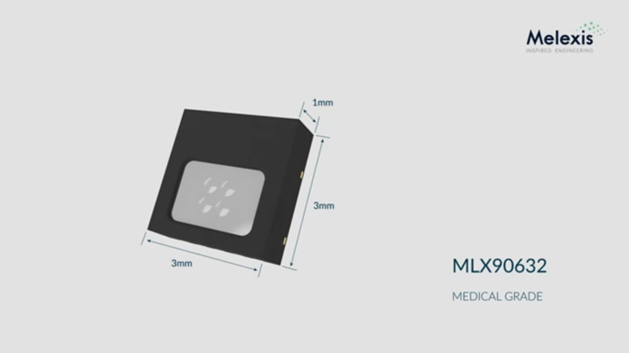 MLX90632 Surface Mount Medical Grade version temp sensor