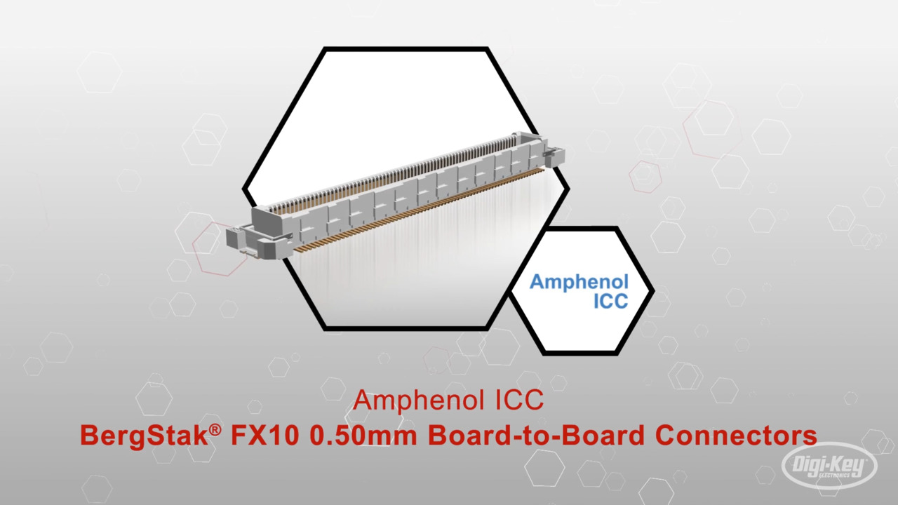 BergStak® FX10 0.50mm Board-to-Board Connectors | Datasheet Preview