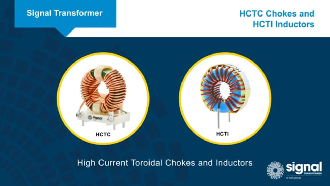 Signal Transformer HCTC Chokes and HCTI Inductors