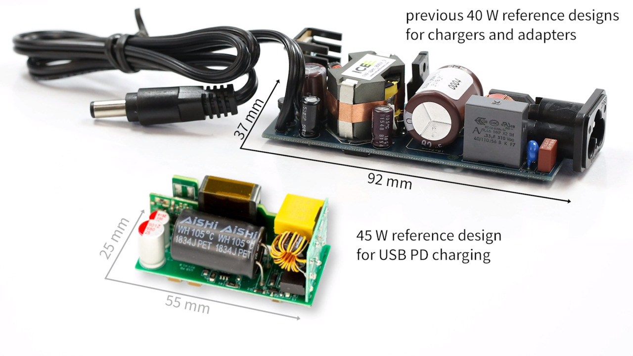 Infineon's 45 W reference design for USB-PD charging