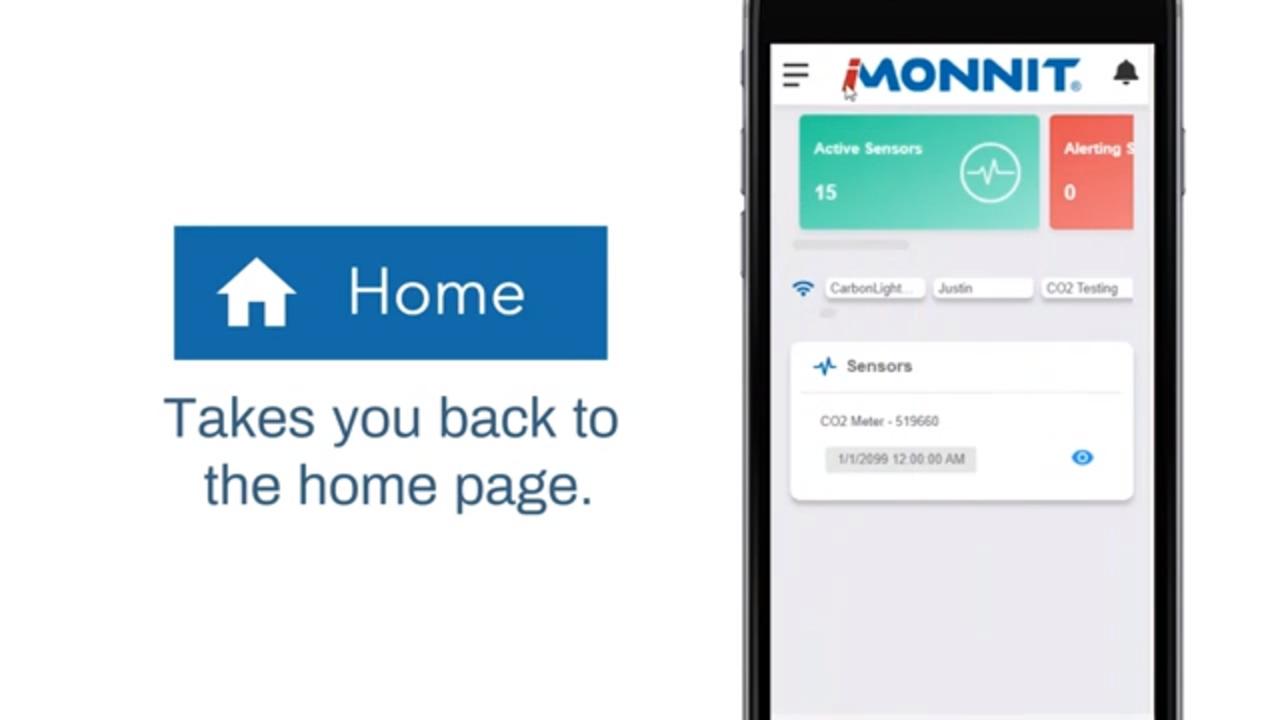 iMonnit Main Menu Navigation Overview