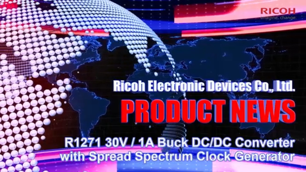R1271 30V / 1A high-efficiency buck DC/DC converter with optional SSCG