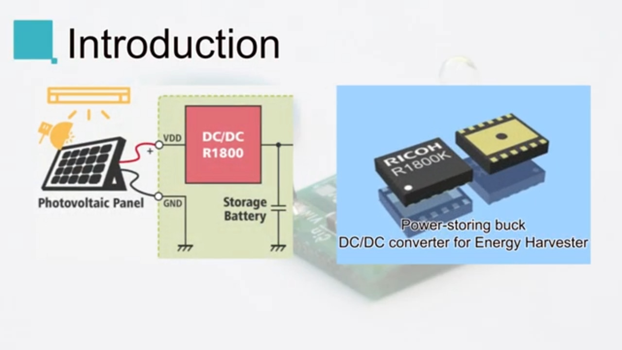 R1800 Buck DC/DC Converter for Energy Harvesting