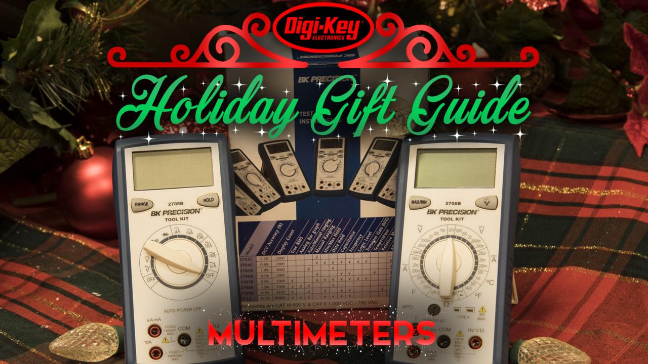 Holiday Gift Guide 2019 – B&K Precision DMM Manual & Auto Ranging Multimeters | Digi-Key Electronics