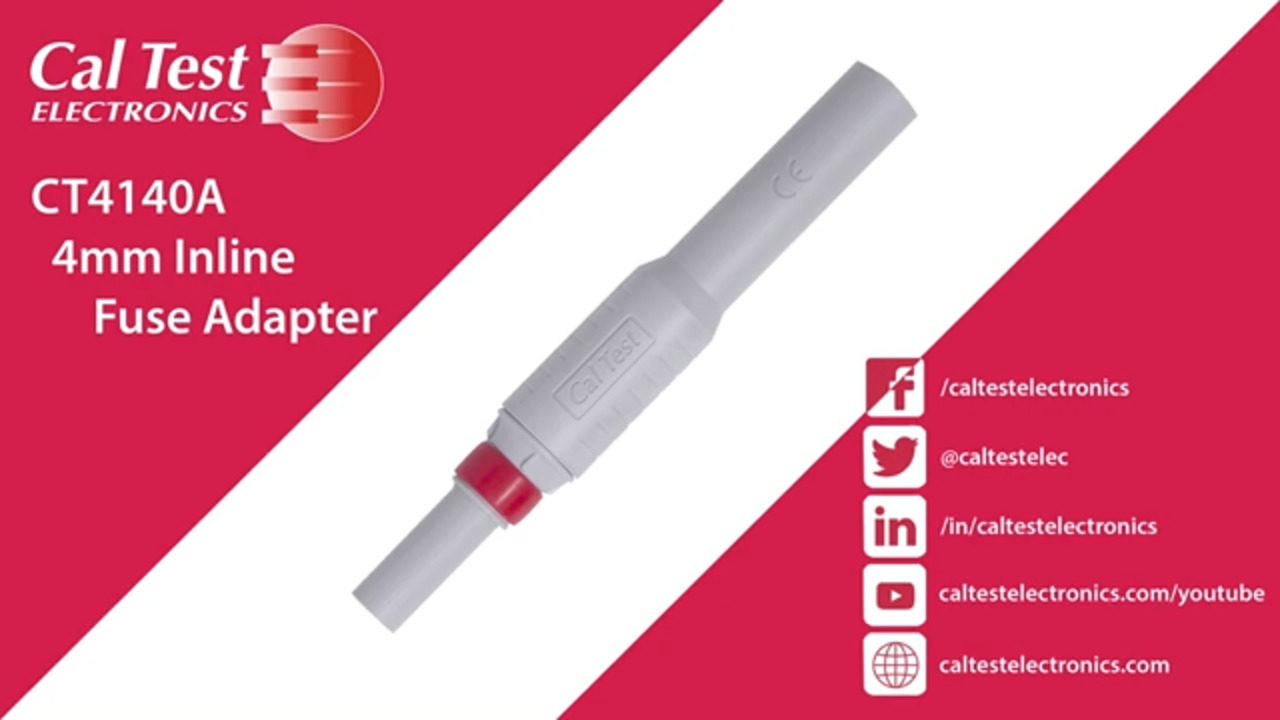 CT4140A, 4mm Inline Fuse Adapter