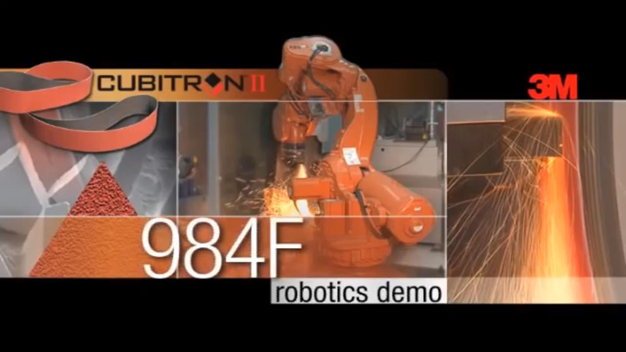 3M™ Cubitron™ II Belt 984F Robotics Demo