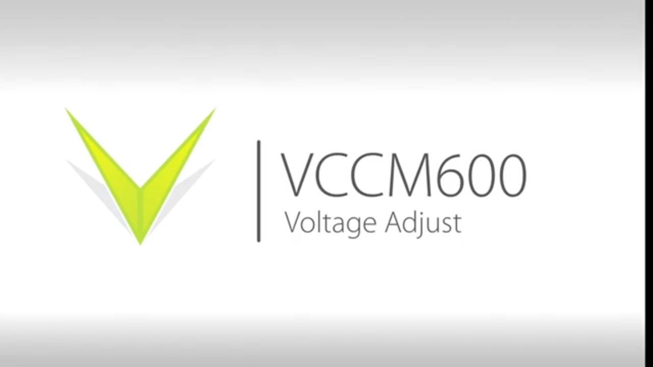 VCCM600 Output Voltage Adjust Demonstration