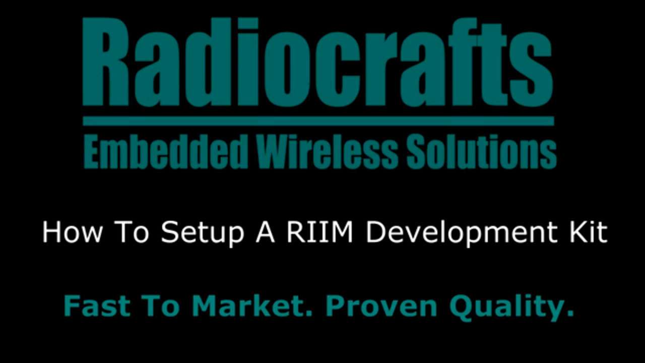 How To Get Started With RIIM: Part 1 - How To Setup A RIIM Development Kit