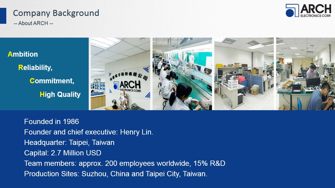 ARCH Electronics Corp. company introduction