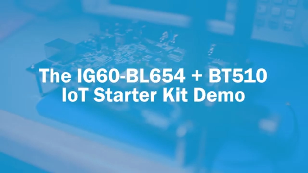 IG60-BL654 + BT510 IoT Starter Kit Demo