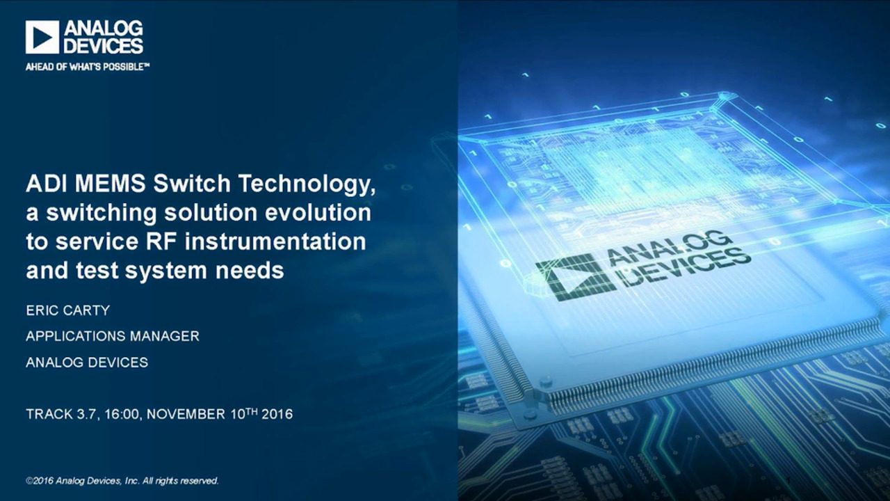 Fundamentals of Analog Devices' RF MEMS Switch Technology