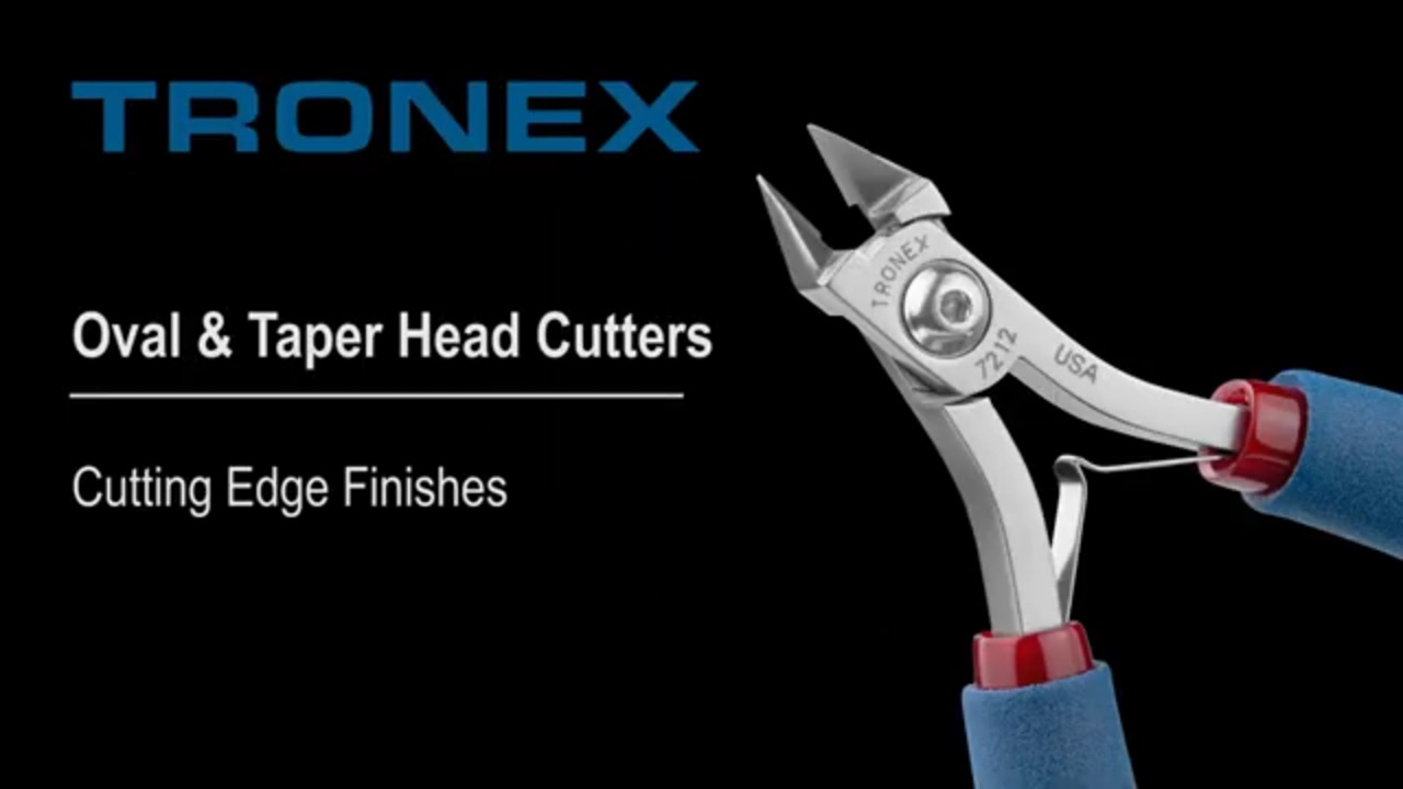 Tronex - Oval & Taper Head Cutting Edge Finishes