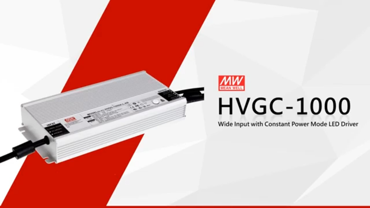 MEAN WELL HVGC-1000 Series LED Drivers