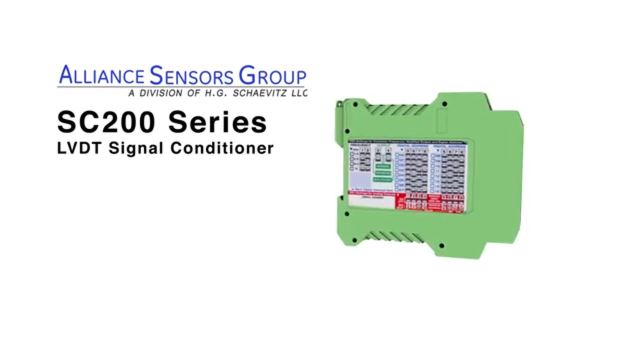 LVDT Signal Conditioner SC 200 Product Overview