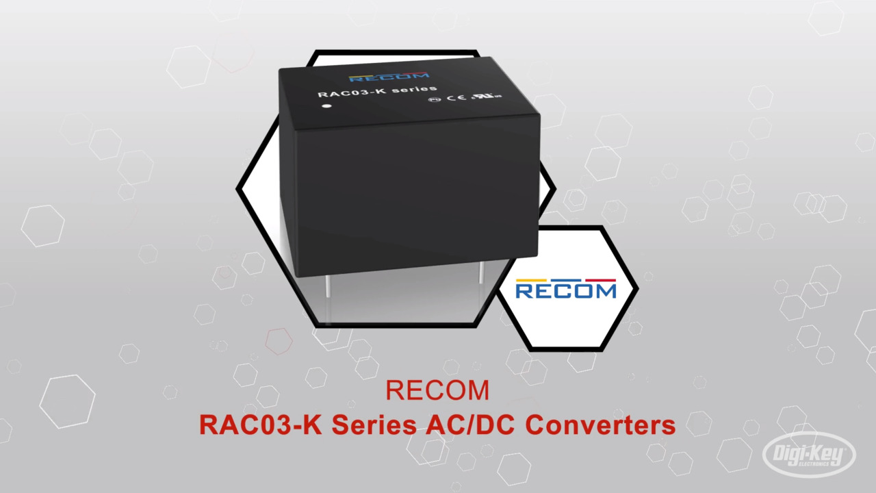 RECOM RAC03-K Series AC/DC Converters | Datasheet Preview