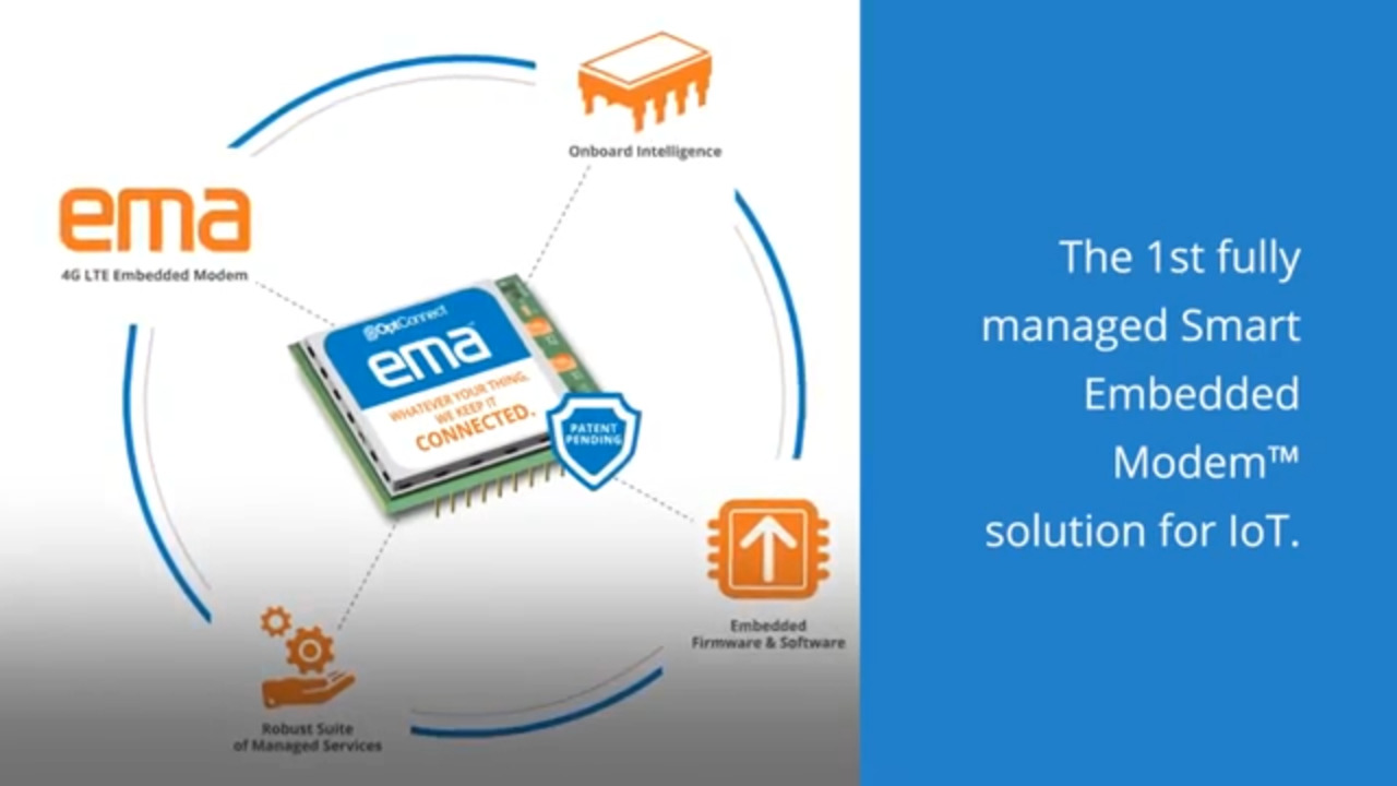 EMA – 1st fully managed Smart Embedded Modem™ solution for IoT
