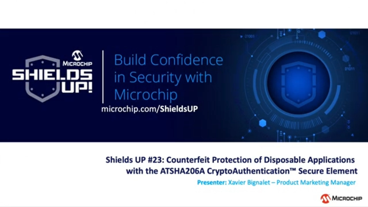 Shields UP #23 - Counterfeit Protection of Disposable Applications with the ATSHA206A