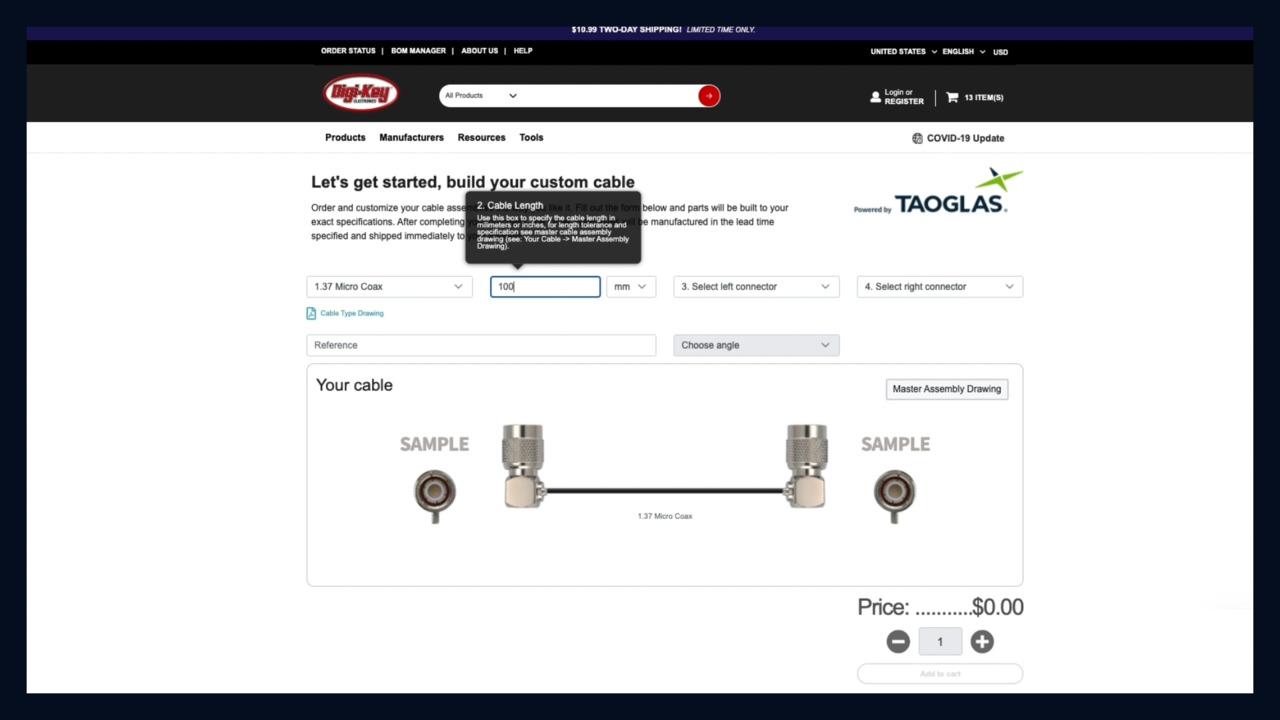 Digi-Key Cable Builder
