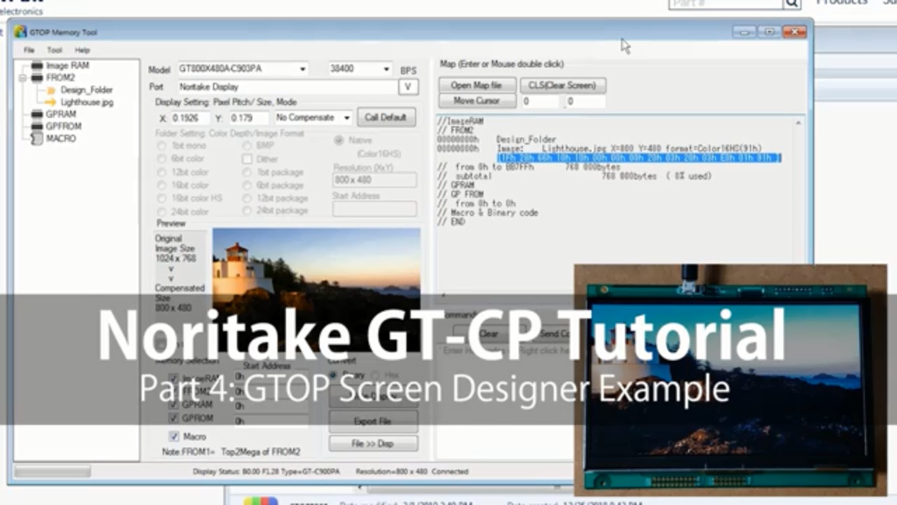 Noritake GT-CP Tutorial   Part 4: Screen Designer Example on GTOP