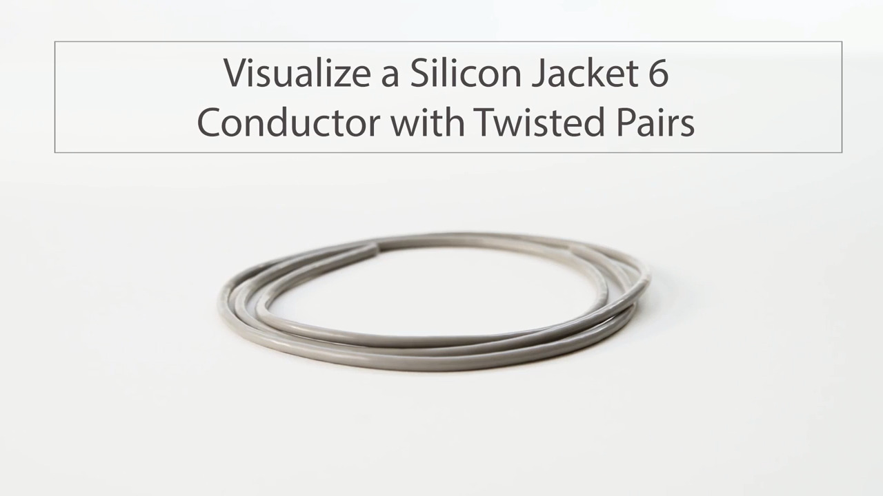 Visualize Tensility Silicone 6 Conductor Wire with Twisted Pairs