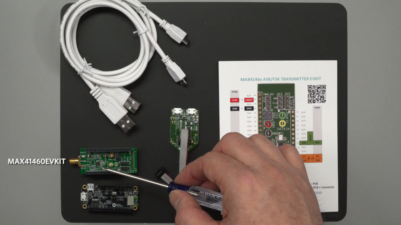 Getting Started with the MAX41460 RF Transmitter