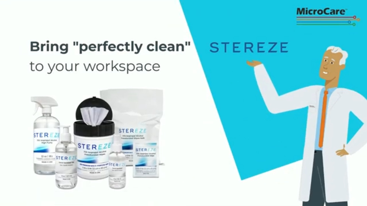 Stereze Workspace Cleaners and Hand Sanitizers