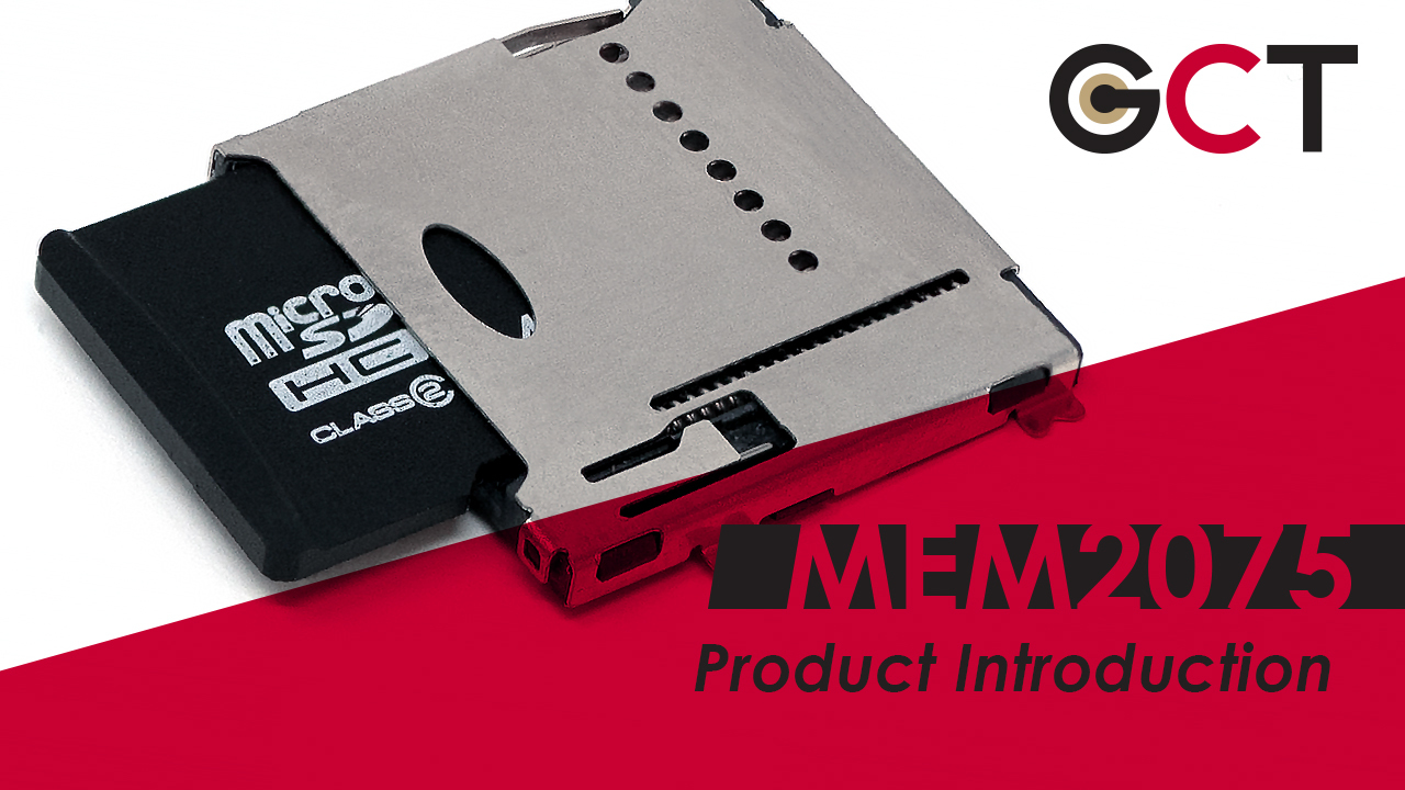 MEM2075 Product Highlights - MEM2075 Push-Pushes Slim MicroSD Connectors to the Limit